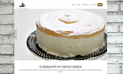 Diseño web tartas
