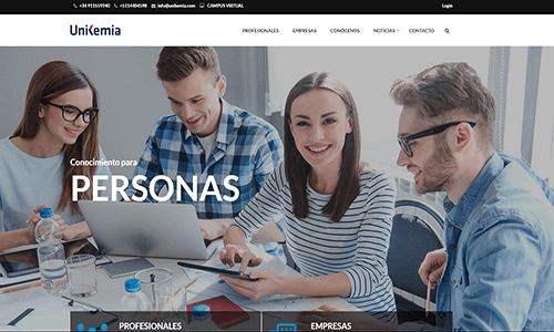 diseño web academia online