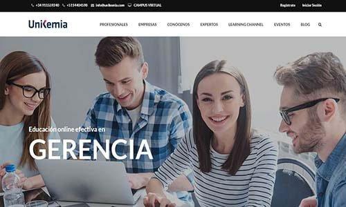 diseño web escuela online