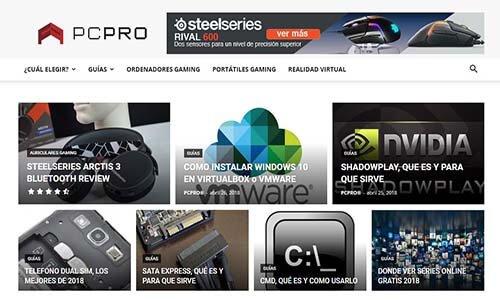 diseño web pagina pcpro 2018