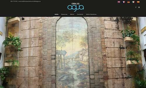 diseño web restaurante corral