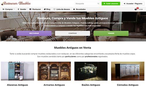 diseño web restaurar muebles antiguos